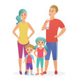 sport fitness happy family dad mother son and vector image
