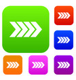 striped arrow set collection vector image vector image