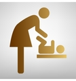Symbol for women and baby vector image vector image