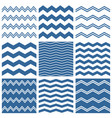 tile chevron pattern set with sailor blue zig zag vector image