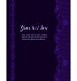 violet vintage lacy border vector image vector image