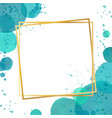Watercolor splash effect border frame background