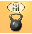 Iron Weight Poster vector image