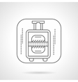 Luggage icon flat line design icon vector image