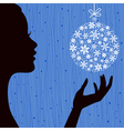 Christmas Eve Blue Color Background vector image