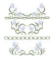 vignette with blue irises vector image