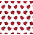 background of ladybug vector image