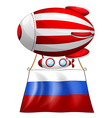 A balloon and the flag of Russia vector image vector image