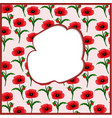 a frame in the form of a poppy vector image