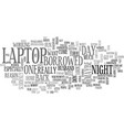 a laptop of my own text word cloud concept vector image vector image