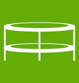 a round coffee table icon green vector image vector image