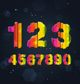 Abstract rainbow numbers vector | Price: 3 Credits (USD $3)