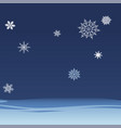 background of falling snowflakes on the night sky vector image