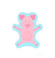 boar making snow angel piglet on winter vacation vector image vector image