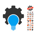 bulb configuration gear icon with dating bonus vector image vector image