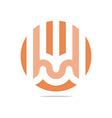 bussines icon symbol design circle vector image vector image