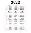 calendar for 2023 vector image vector image