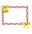 Candy Cane Frame3 vector image vector image