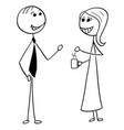 cartoon of man and woman business people talking vector image vector image
