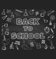 chalk board back to school backdrop vector image vector image