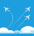 changing direction concept airplane flying in vector image vector image