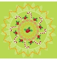 Christmas round pattern vector image vector image