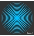 Concentric circle elements Radar screen vector image