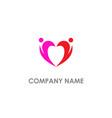 couple love heart valentine logo vector image