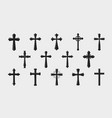 cross logo religion crucifixion church vector image vector image