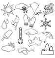 doodle weather images vector image vector image
