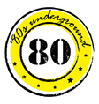 eighties underground stamp vector image vector image