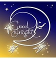 Good night of handwritten vector image vector image
