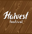 harvest festival background with wood board vector image vector image