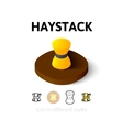 Haystack icon in different style vector image