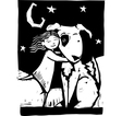 Huggy Dog vector image vector image