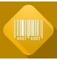 icon of Barcode Sign with a long shadow vector image