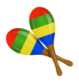 Image of maracas on a white background vector image vector image