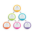 infographics circle paper with 6 data template vector image vector image