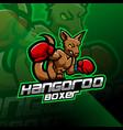 kangoroo boxing esport mascot logo design vector image