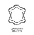 leather dry cleaning service company sample of vector image