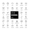 Line icons set contact us vector image