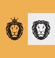 lion logo or emblem animal wildlife icon vector image vector image