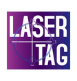 logo for laser tag and airsoft vector image