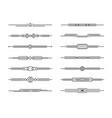 modern dividers set geometric lines vector image vector image