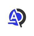 monogram logo design with letter ad