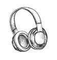 music lover device wireless headphones vector image vector image