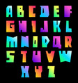 New font cut vibrant letters uppercase