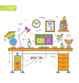 Online Education Process vector image