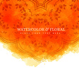 orange watercolor floral background vector image