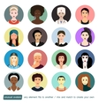 People unusual avatars collection Girls women in vector image vector image